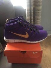 Nike Flyknit Trainer Mens UK Size 9 Chukka Purple Training Shoes