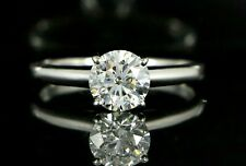 $7880 Tolkowsky 14K White Gold EX 1ct Round Diamond Solitaire Engagement Ring