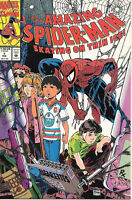 the Amazing Spider-Man Comic Book #1 Skating Thin Ice, Marvel 1990 VFN/NEAR MINT