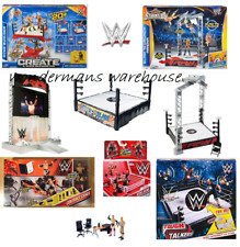 WWE Wrestling Ring/Entrance Playset/Contract Chaos/Tough Talkers Interactive NEW