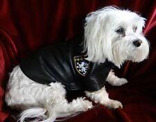 Black Faux Leather Dog Jacket Bark Avenue Originals Small Dog Size