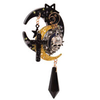 Lolita Girls Cross Pentacle Stars Moon Skull Hair Clip Gothic Punk Headwear