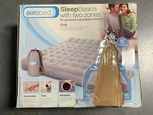 Aerobed Sleep Basics 2 Zone - King Air Bed w 120 Volt Air Pump | New | DMG Box 6