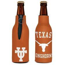 Texas Longhorns Neoprene Bottle Holder Coozie Koozie Cooler With Zipper