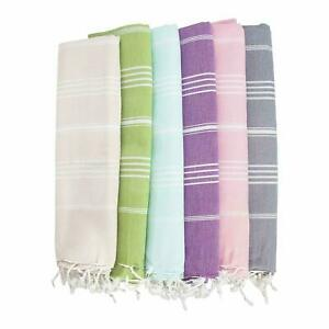 2 x Lotus Extra Large Beach Pool 100% Turkish Cotton Towel 70'' X 39''