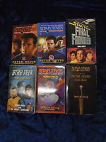 * 6 STAR TREK FRONTIER BOOKS by VARIOUS AUTHORS * UK POST £3.25* PAPERBACKS*