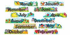 Alpha-Beads 12 Monthly Headers Classroom Display banner set