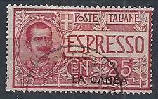 1906 LA CANEA USATO ESPRESSO 25 CENT - RR12229