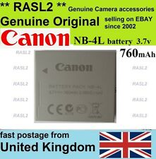 Genuine Original Canon-NB-4L Battery IXUS 110 115 117 120 130 iS,220 230 255 HS