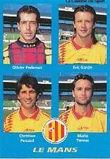 N°378 GARCIN # TANNAI LE MANS MUC VIGNETTE PANINI FOOTBALL 96 STICKER 1996