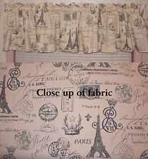 New Paris Eiffel Tower France French Stamp Trip Vacation Valances Curtains
