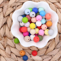 15mm Baby Chewable Round Silicone Beads Teether Sensory Teething Jewelry Making