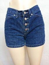 Vtg 90s Jordache Button Fly Mom Denim Shorts size 28.5 High Waisted Dark 28 3380