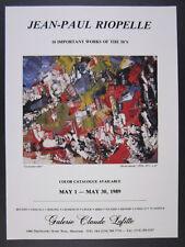 1989 Jean-Paul Riopelle Le Joyeux Velo painting Montreal exhibition vintage Ad