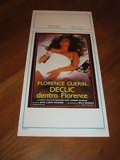 LOCANDINA, S/5,.DECLIC DENTRO FLORENCE GUERIN RICHARD MILO MANARA EROTICO