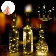 Corcho Forma 20 LED Lámpara Mesilla Estrellado Luces BOTELLA DE VINO Para
