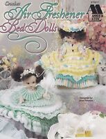 Air Freshener Bed Dolls, Annie's Crochet Doll Clothes Pattern Booklet 870811 NEW