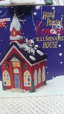Liberty Bell Christmas Handpainted Ceramic Illuminated House Church w/ box CORD