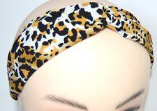 NEW Leopard print link detail headband stretch bandeaux