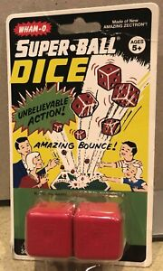 Wham-O Super-Ball Dice RARE New in Package 2013 Classic Toy Bounce Zectron