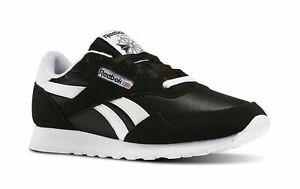 Men's Reebok Royal Nylon Running Shoes Black White BD1553 100% Original New