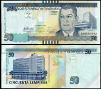 HONDURAS 50 LEMPIRAS 2012 P 101 UNC