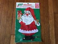 Vintage YULETIDE SANTA Christmas Decoration Door Knob Cover NEVER OPENED