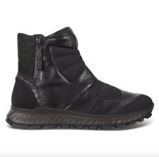 ECCO - Women's Exostrike Hydromax Zip Boot Black Leather - EU 38 US 7 or 7.5