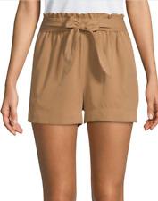 BCBGMAXAZRIA Paperbag Modal Shorts Brown Sugar L NWT $158