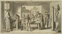 CHODOWIECKI (1726-1801). Die Werkstatt eines Drechslers; Druckgraphik 2