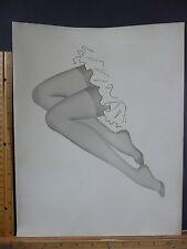 Rare Orig VTG Hot Legs & Feet Reinforced Hosiery Fashion Illustration Art Print