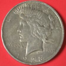 1923 P Peace Silver Dollar F/Vf 90% Silver Beautiful Collectible Coin #21