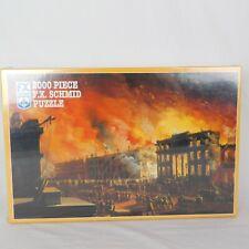2000 Piece Puzzle F.X. Schmid Great Fire New York 1837 Nicolino Calyo Artist New