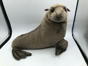 Hansa Melbourne Zoo Brown Seal Sea Lion Plush Soft Stuffed Toy Realistic Animal