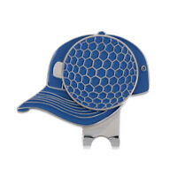 Blue Magnetic Hat Clip with Golf Ball Marker - Suits Golf Cap or Visor