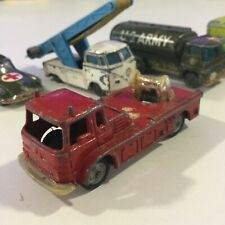 VINTAGE 1960s HUSKY MODELS RED SIMON SNORKEL FIRE ENGINE TRUCK PARTS RESTO 1:64