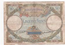 Billet 50 francs Luc Olivier Merson 1927 TTB-