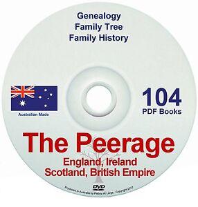 Family History Tree Genealogy Peerage Titles Families England Ireland Scotland