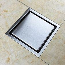Smart Square Floor Waste Tile Insert Grate Grain Bathroom Shower Wetroom 110mm