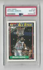 Michael Jordan 1992 Topps All-Star #115 PSA Gem 10 Mint NEW CASE Chicago Bulls