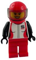 Lego Rennfahrerin mit Helm Autofahrerin Minifigur Frau cty1109 Rennfahrer Neu