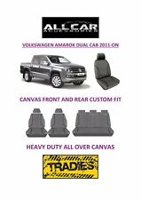 Canvas Car Seat Covers Front & Rear Custom Fit VW Amarok Dual Cab 2011-On