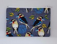 Kookaburra Birds Fabric Handmade Zippy Coin Money Purse Storage Pouch