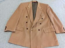 Nordstrom 100% Cashmere Blazer Jacket Sport Coat Double Breasted Tan Men's 44L