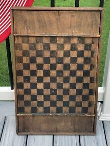 Original 1860s Civil War Period New England Primitive Checkerboard
