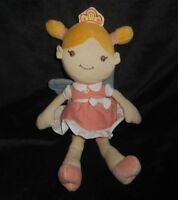 """12"""" MY NATURAL BABY GIRL PINK DRESS W/ WINGS STUFFED ANIMAL PLUSH TOY SOFT DOLL"""
