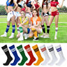 Hot Women's Sport football Soccer Baseball Stripe Long Socks Over Knee High Sock