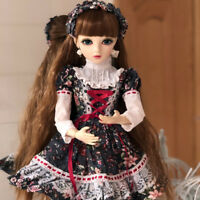 BJD Doll 1/3 Puppen Girl Free Make Up + Dress + Wig + Shoes + Changeable Eyes