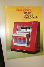 Original Rowe-AMI MM-3 Music Miracle 1968 juke box jukebox Flyer Brochure