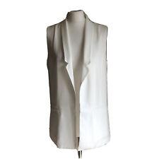 Forever 21 Cream Long Waistcoat Career Jacket BNWT UK 14